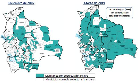 BOLIVIA: MAPA DE COBERTURA DE SERVICIOS FINANCIEROS